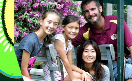 Sharnie, Marley, Mika and Peter Fenn enjoy a day at Tropical Fruit World.