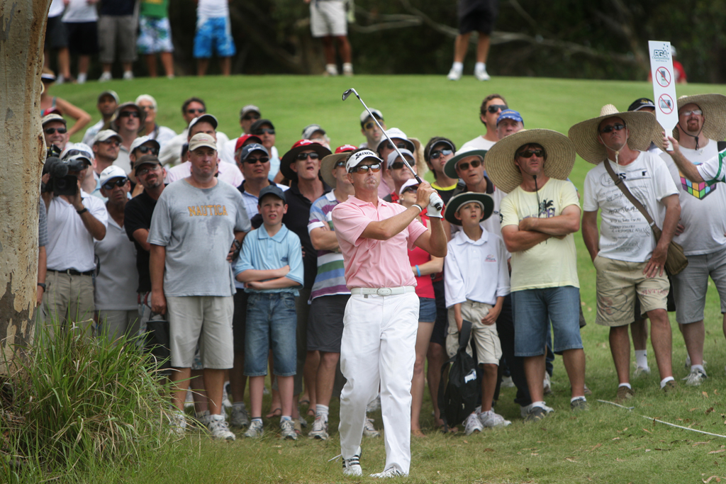 Robert Allenby on his way to winning the Australian PGA championship three years ago.