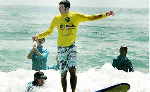 Jai Gorton from Cabarita enjoys the hands-on day at Kingscliff Beach.