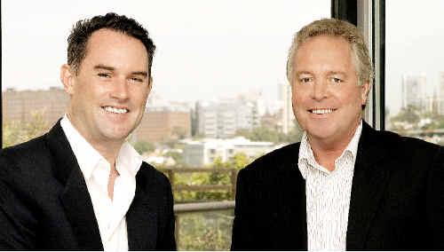 John McGrath (left), chief executive of McGrath Real Estate, and principal of McGrath Ballina John Nicolson.