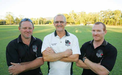 Wayne Harle, Darrel Dunnett and Tom Kneen are planning on making Panthers the top football team in the 2010 AFL competition.
