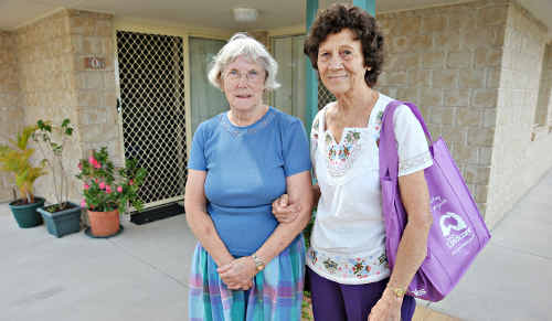 Former Village Life Caloundra residents Shirley McIlwain and Jean Liddle have moved into private rental accommodation.