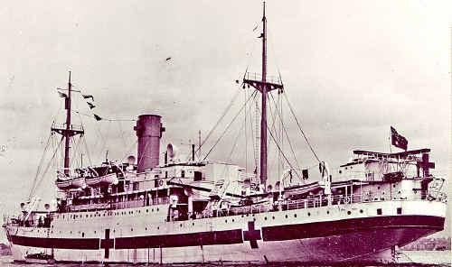 The hospital ship Centaur.