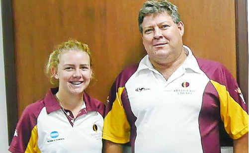 Coalstoun Lakes' Kaitlyn Rackemann, the captain of the Queensland under-17 women's cricket team, has a fan in coach Andy Richards.