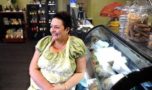 Fiona Guihot in her new deli Gourmet to Go in the Link Arcade.