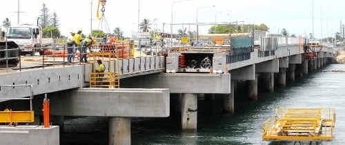 The new Forgan Bridge.