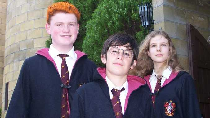 Adam Elmohamad as Harry, centre, Jack Robson as Ron, and Sharntie Christina as Hermione will bring the Harry Potter spoof to Coast audiences in January.