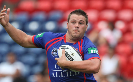 A file photo of Danny Wicks playing with his former club the Newcastle Knights.