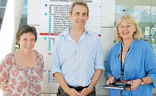 ORGAN and tissue donation specialists Mary Campbell, Dr Michael Lindley-Jones and Ann Judd.