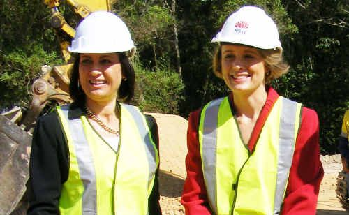 Federal Member for Richmond Justine Elliot and New South Wales Premier Kristina Keneally turned the first sod for the Sexton Hill upgrade yesterday.