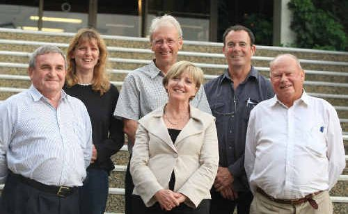Tweed councillors – back row Katie Milne, Barry Longland, Kevin Skinner; front – Warren Polglase, Joan Van Lieshout and Phil Youngblutt.