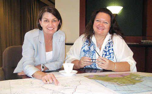 Queensland Premier Anna Bligh with Hancock Prospecting chairman Gina Rinehart.