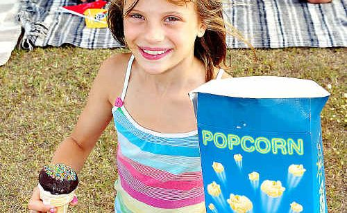 Imi Beardsley is all set for tonight's Flicks in the Sticks outdoor movie session at Eumundi.