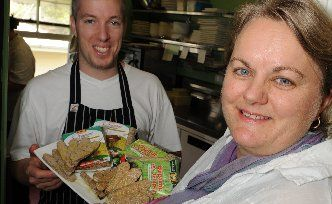 Julie Shelton and chef of Pomodora's in Maleny supporting fresh local produce in restaurants.