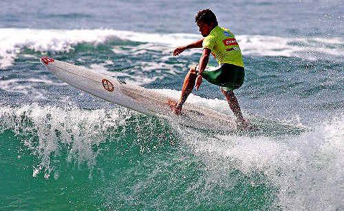 Emerald Beach longboarder Harley Ingelby is one of three Aussie world champs in 2009.
