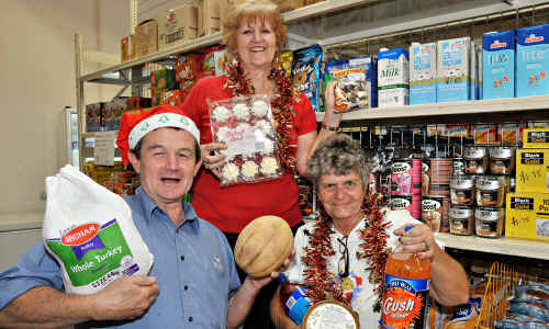 Pastor Stuart Charlton, Carol Zammit and volunteer Rhonda Barry will be spreading some cheer to the homeless on Christmas Day.