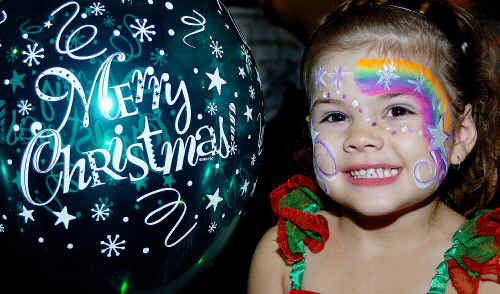 """""""Santa, wait, I had to tell you something!"""" called out Willow Ronnfeldt, 3, as she tried to catch up with Santa Claus at the Maryborough Carols by Candlelight yesterday."""