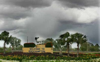 Dark clouds filled the skies over Rockhampton yesterday at 12.30pm.