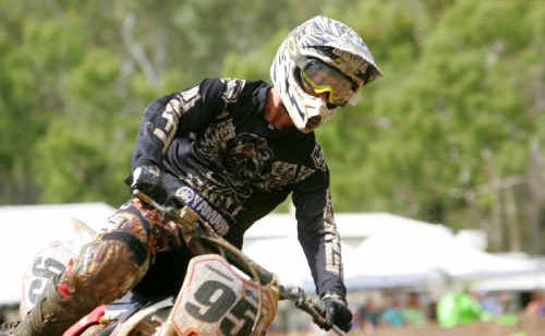 Simon Thompson showed the skills that have made him the top rider in Central Queensland when finishing second in Queensland Stadium Saturday's EnduroX at The Caves Showground.