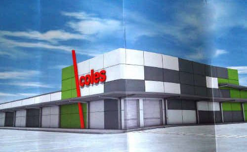 An artist's impression of the proposed new-look supermarket for Yamba Shopping Fair.