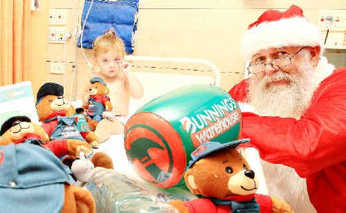 TWENTY-month-old Nevada Garvey got an early Christmas present from Santa at The Tweed Hospital.