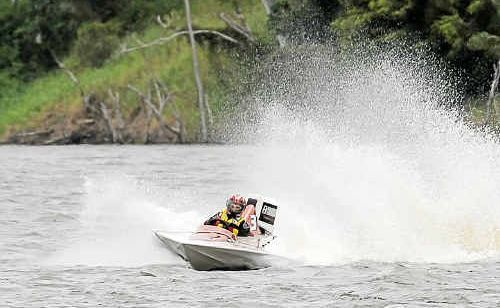 Brett Farlow in Hi-Jak'd had a good 2009 in the Bundaberg Powerboat Inc season.