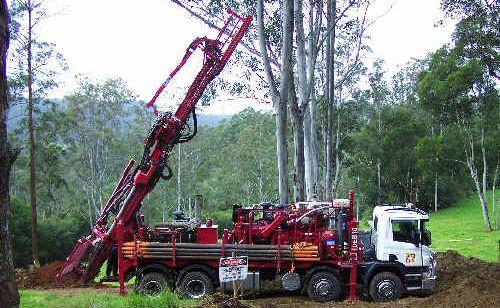 Test drilling for antimony near Wild Cattle Creek, north of Dorrigo.