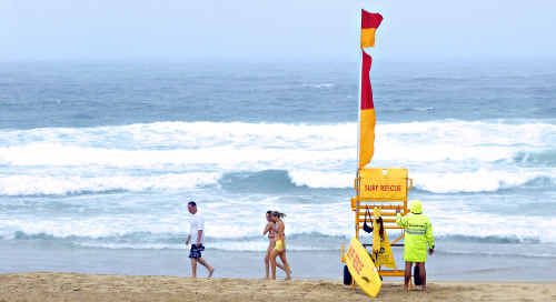 Less than favourable beach weather failed to keep holiday-makers away on Boxing Day.