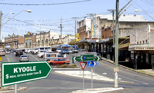 THE country township of Kyogle has emerged as a real estate hot spot for investors. Photo digitally altered.