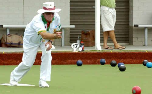 John Gardner in action yesterday in the Summerland Pairs.