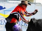 Bullfighter of the Year Joel Chevalley distracts a bull during Sunday's Maclean Twilight Rodeo.
