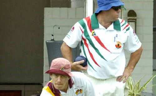 Isaac Gardner of Townsville during sectional play at the Summerland Pairs. Gardner, with his father John, failed to make it through to the finals.