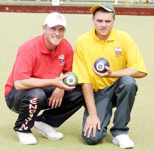 Summerland Pairs winners David Ferguson and Chris Herdon.