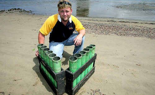 Spectrum Fireworks technician Nick Forbes will let off 1000kg of fireworks at Jack Evans Boat Harbour to celebrate the coming of the new year tonight.