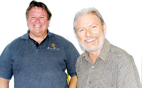 Ray Linabury (left) and Richard Heazlewood-Ross, deputy principals of Mullum- bimby High School, both retiring after many years of service.