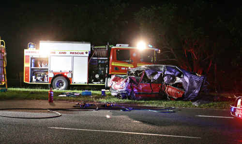 The horror crash which killed the Hornby twins.
