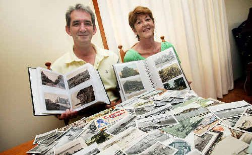 Postcard couple Greg and Maureen Thornton are cataloguing memories.