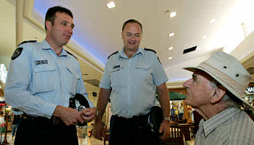 Senior Constable David Latemore is a hands-on officer at the Kawana Shoppingworld police beat.