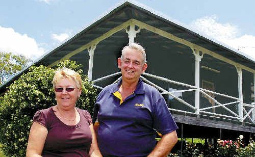 Chris and Ray Schodde are grateful to be back in their Dyraaba Creek home so soon after a storm tore off their roof on December 19.