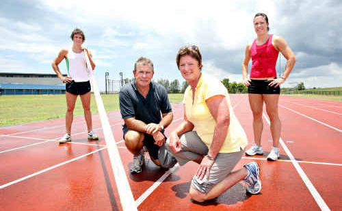 Ray and Denise Boyd with two of their children in contention for Commonwealth Games selection, Matt and Jacinta.