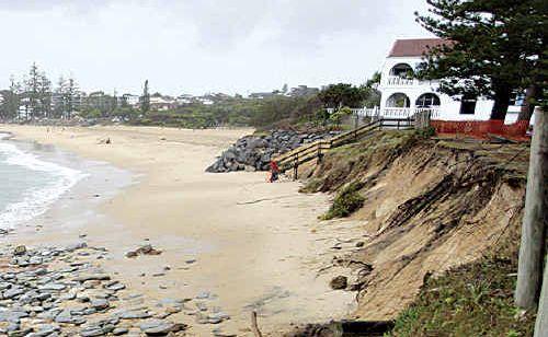 Erosion at Moffat Beach.