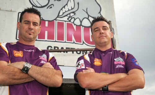 Mark Shiels, left and his brother Adam have taken over the coaching reins at the Grafton Rhinos.