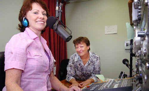 Glenda Hockley Brown and Janice Warren at the new studio of Fraser Coast Community Radio in Point Vernon.