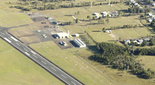 An aerial view of Maryborough airport.