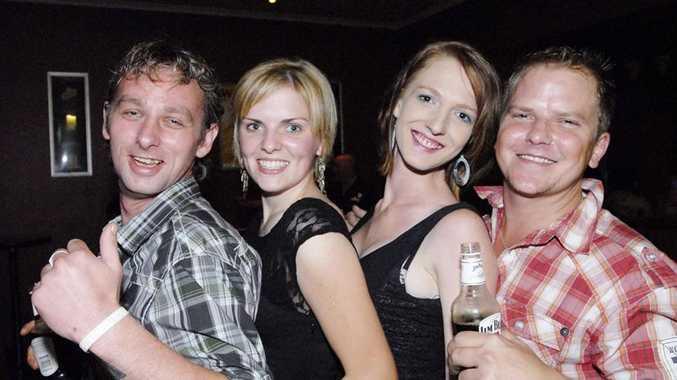 Robert Roden, Marie Burke, Jenn Greatrex and Jake Hocking celebrating New Year's Eve at The Shamrock .