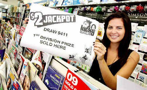 Newton's Newsagency employee Chantelle Cank hopes the $100,000 winner is a regular customer.