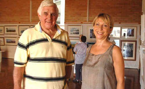 Yamba artist Bob Earle and The Chapel Art Gallery curator Sandy Penrith.