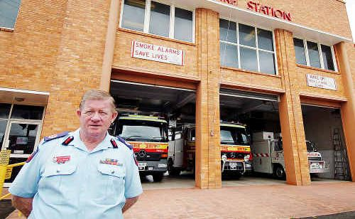 Qld Fire Service north coast region assistant commissioner Ray Eustace, pictured outside the Maryborough Fire Station, says roads are not to blame for the escalating road toll.