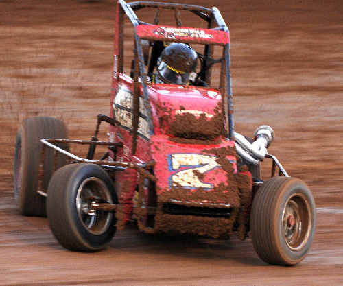 The speedcar of Nathan Smee, one of the favourites tonight.