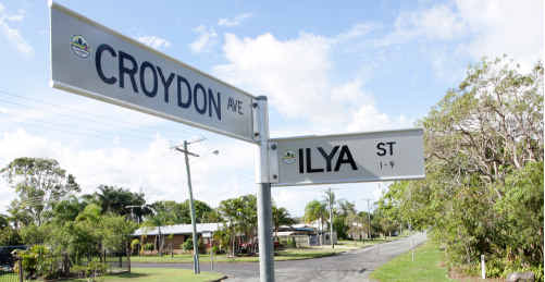 The intersection of Croydon and Ilya Streets where the assault took place.